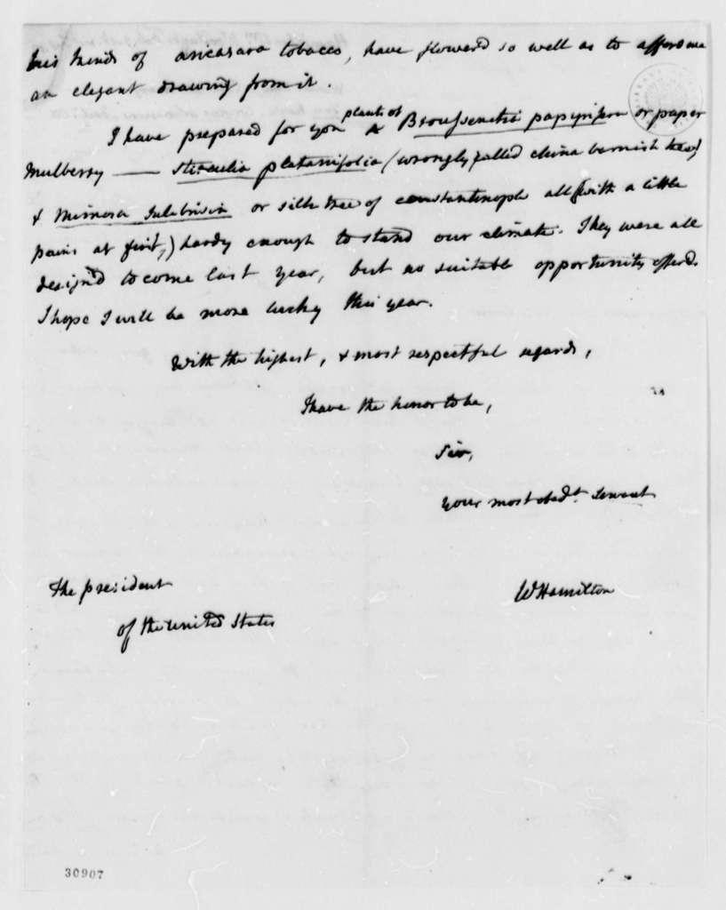 William Hamilton to Thomas Jefferson, February 5, 1808