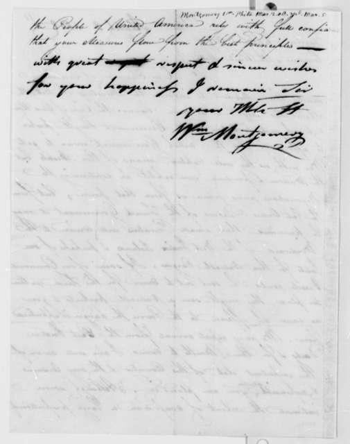 William Montgomery to Thomas Jefferson, March 2, 1808