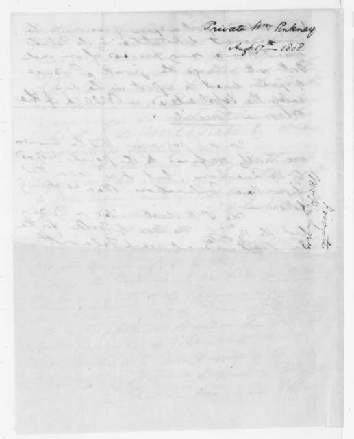 William Pinkney to James Madison, August 17, 1808.