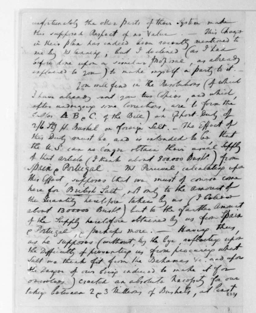 William Pinkney to James Madison, February 22, 1808. With postscript dated Feb. 25.