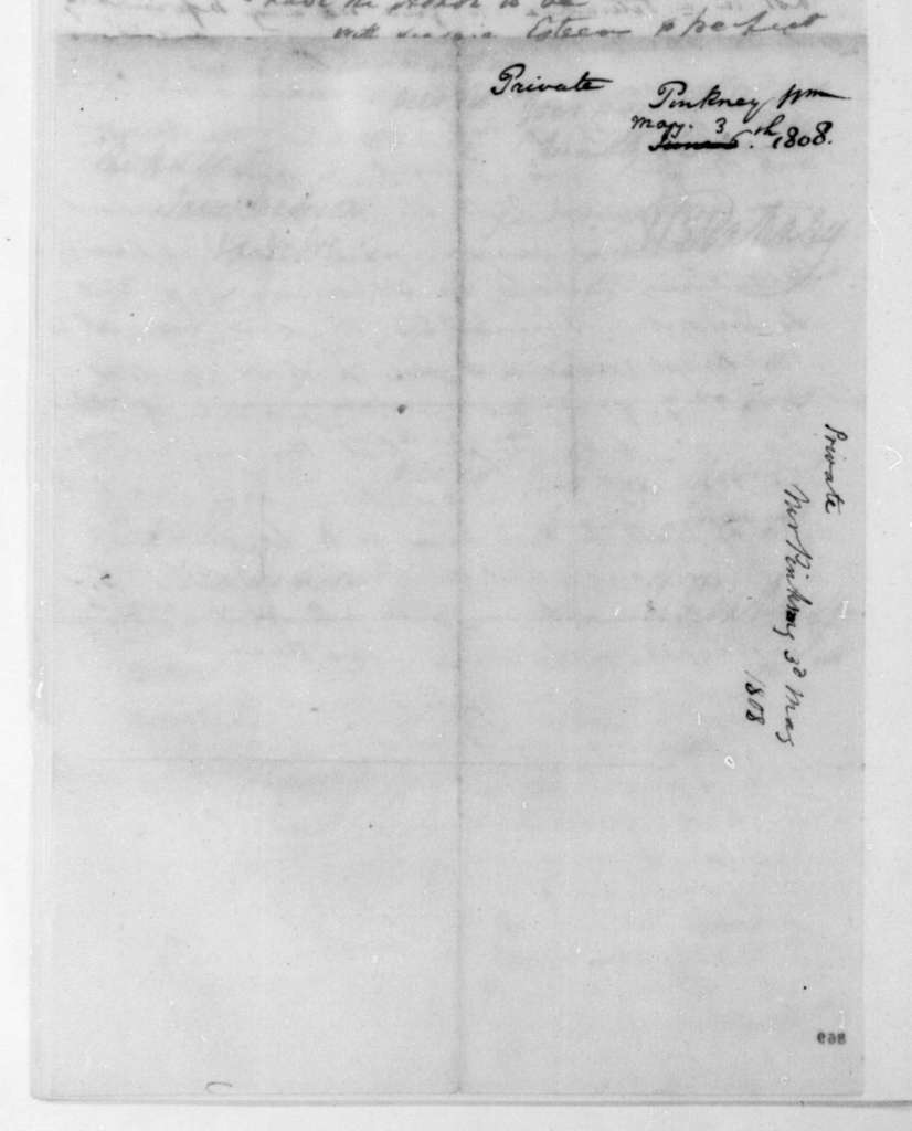 William Pinkney to James Madison, May 3, 1808.