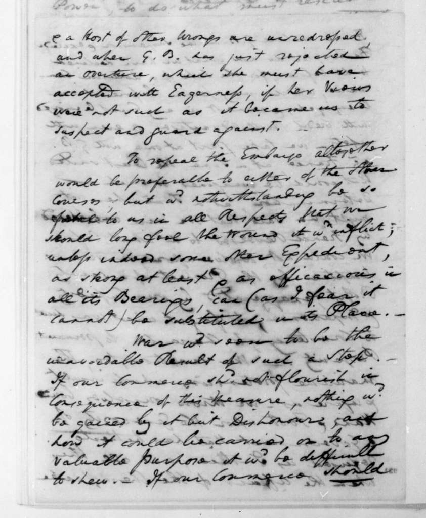 William Pinkney to James Madison, September 21, 1808.