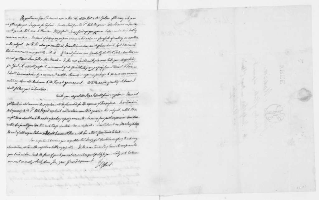 William Short to James Madison, September 14, 1808.