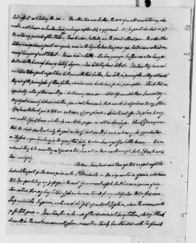 William Short to Thomas Jefferson, August 31, 1808
