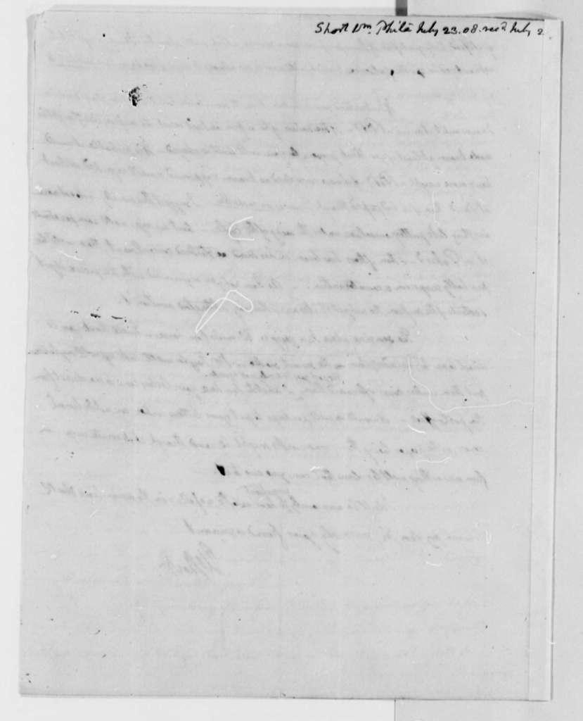 William Short to Thomas Jefferson, July 23, 1808