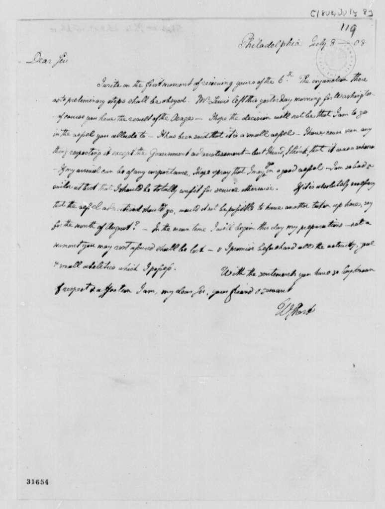 William Short to Thomas Jefferson, July 8, 1808