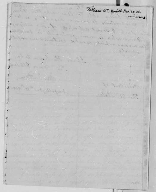 William Tatham to Thomas Jefferson, November 30, 1808