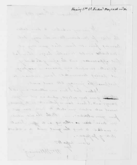 William Waller Hening to Thomas Jefferson, May 24, 1808