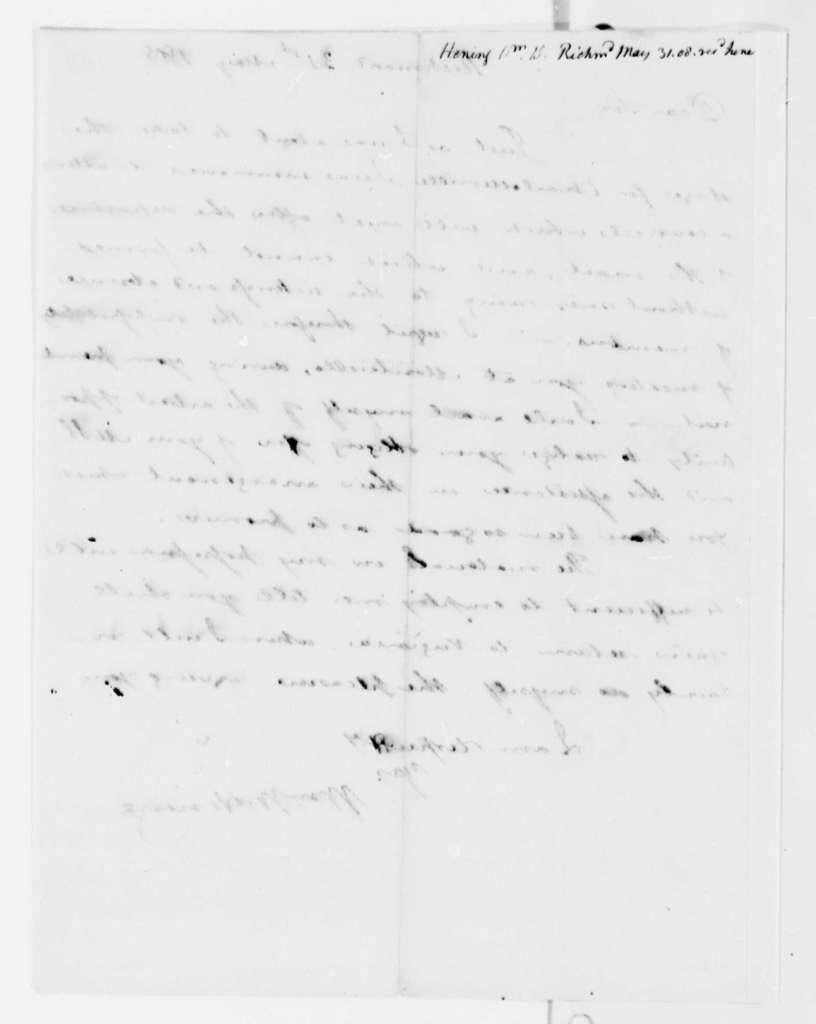 William Waller Hening to Thomas Jefferson, May 31, 1808