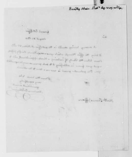 Abraham Bradley, Jr. to Thomas Jefferson, August 31, 1809