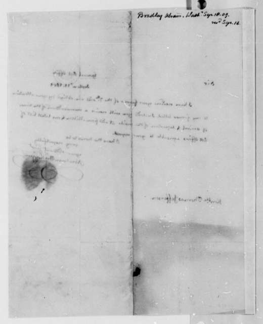 Abraham Bradley, Jr. to Thomas Jefferson, September 11, 1809