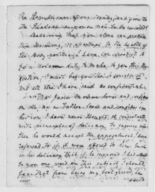 Alexander McRae to Thomas Jefferson, February 14, 1809