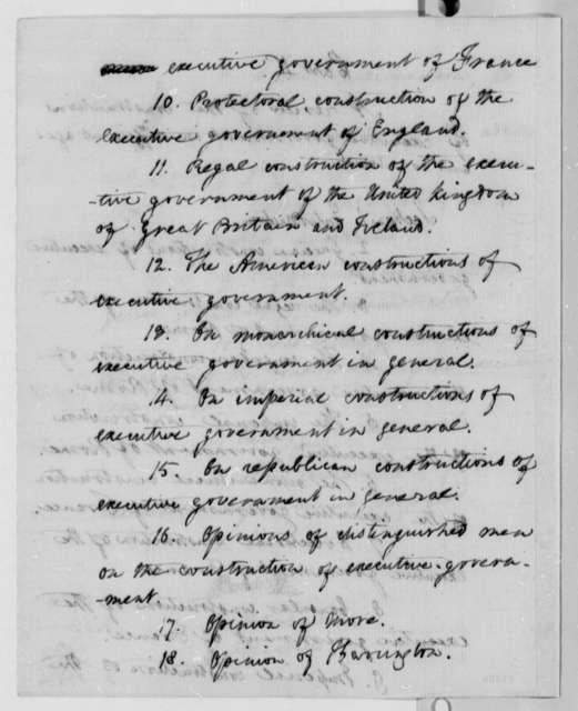 Augustus B. Woodward to Thomas Jefferson, June 3, 1809, with Outline