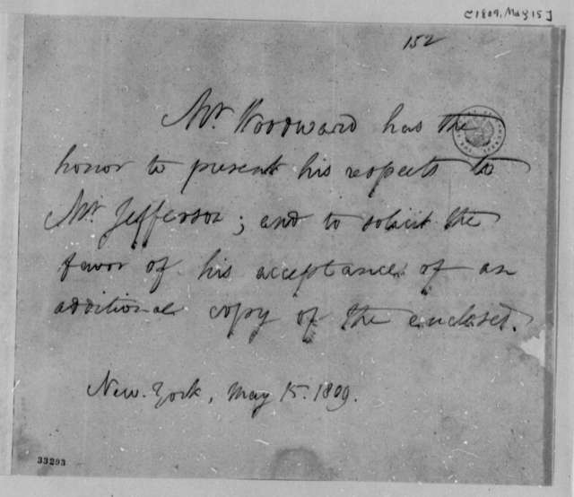 Augustus B. Woodward to Thomas Jefferson, May 15, 1809