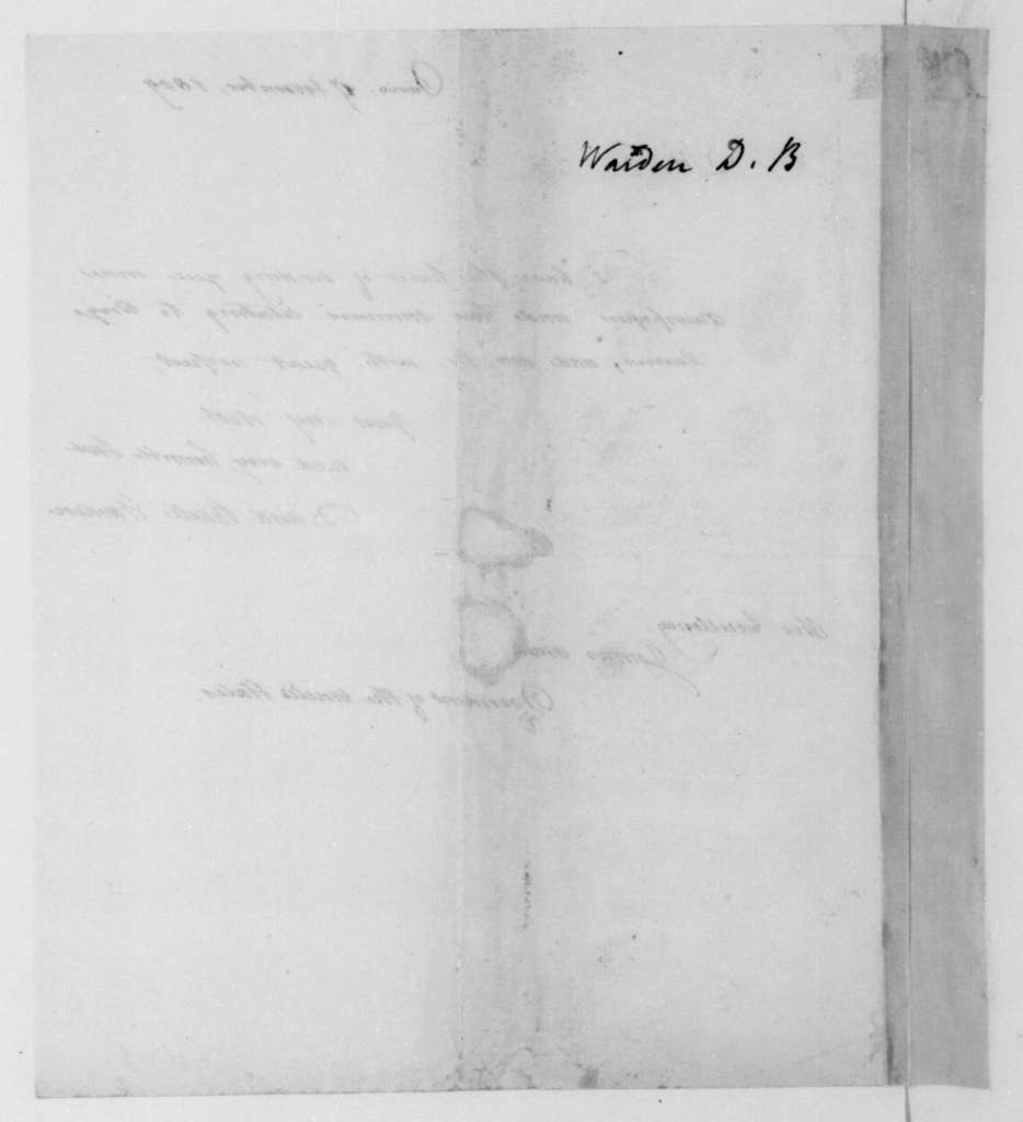 David Bailie Warden to James Madison, November 17, 1809.