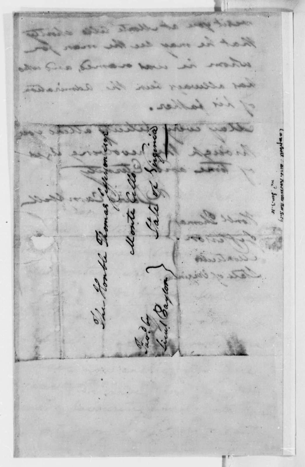 David Campbell to Thomas Jefferson, November 5, 1809