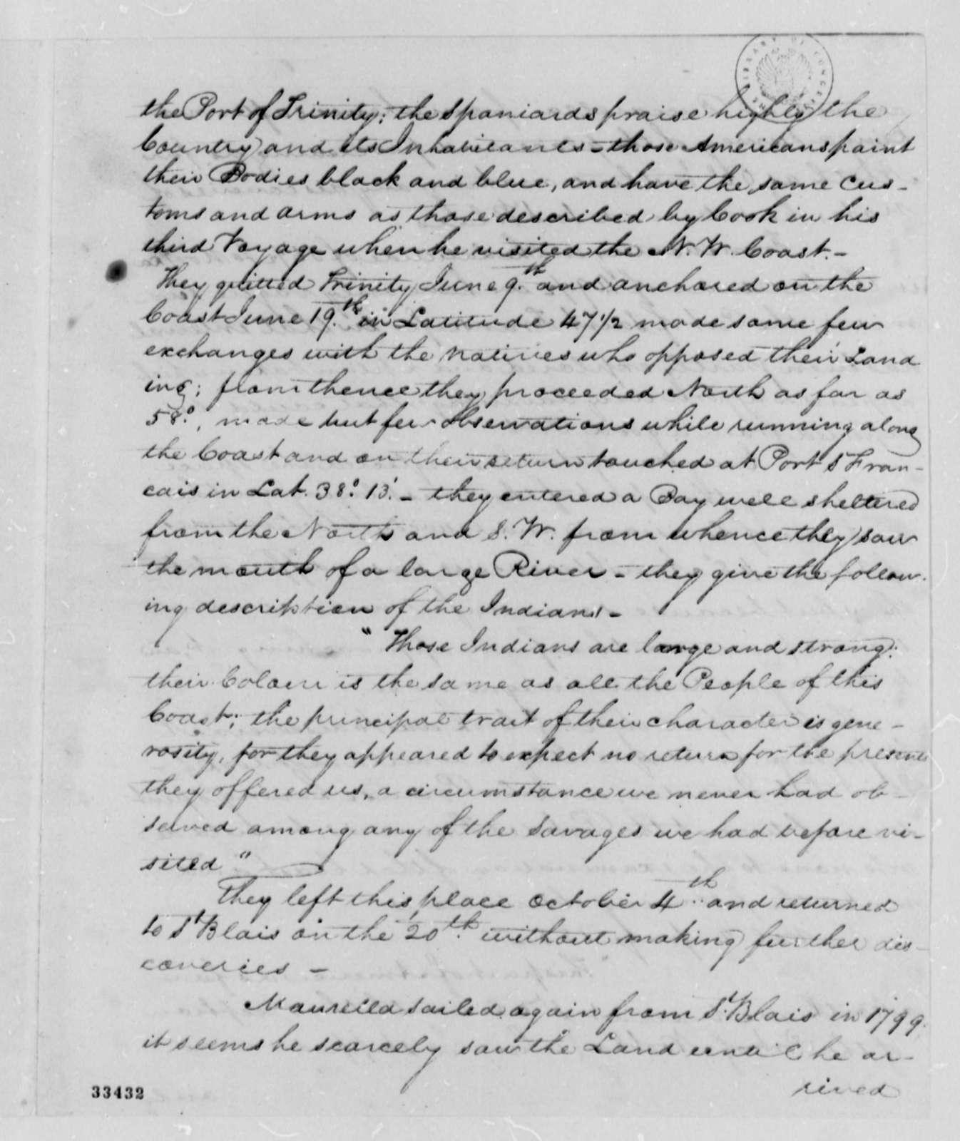 David Porter to Thomas Jefferson, August 17, 1809, and Prospectus