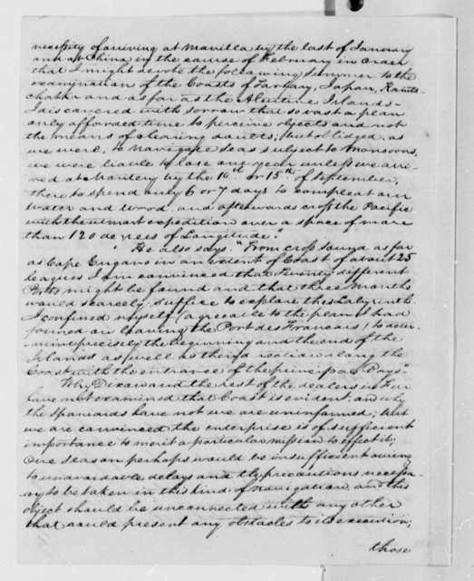 David Porter to Thomas Jefferson, August 17, 1809, and Prospectus