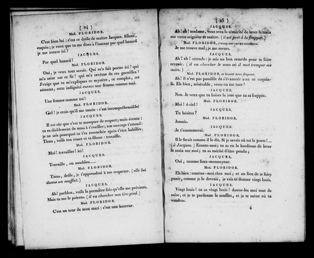 Diable à quatre. Libretto. French