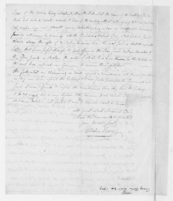 Elisha Tracy to James Madison, February 20, 1809.