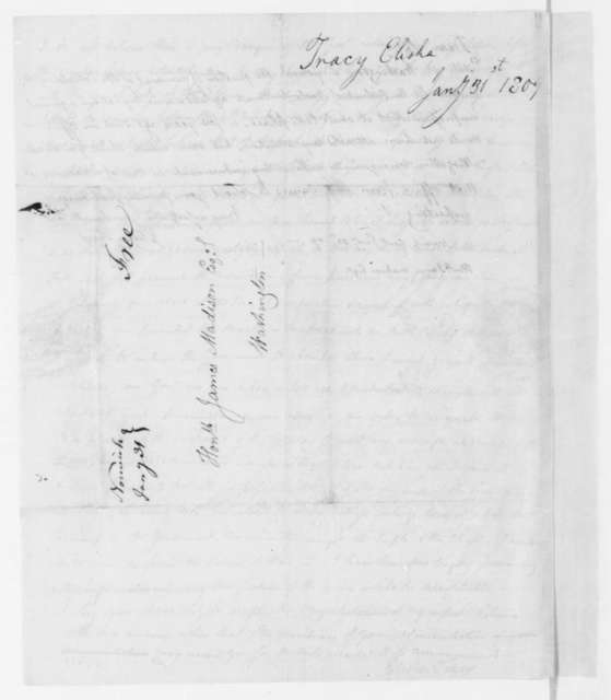 Elisha Tracy to James Madison, January 31, 1809.