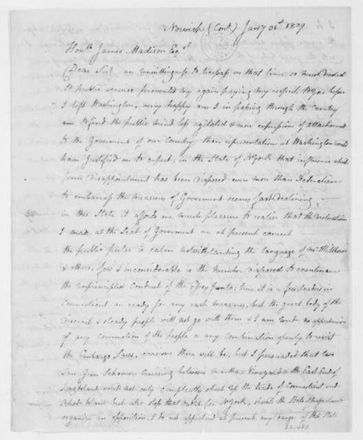 Elisha Tracy to James Madison, January 31, 1809.
