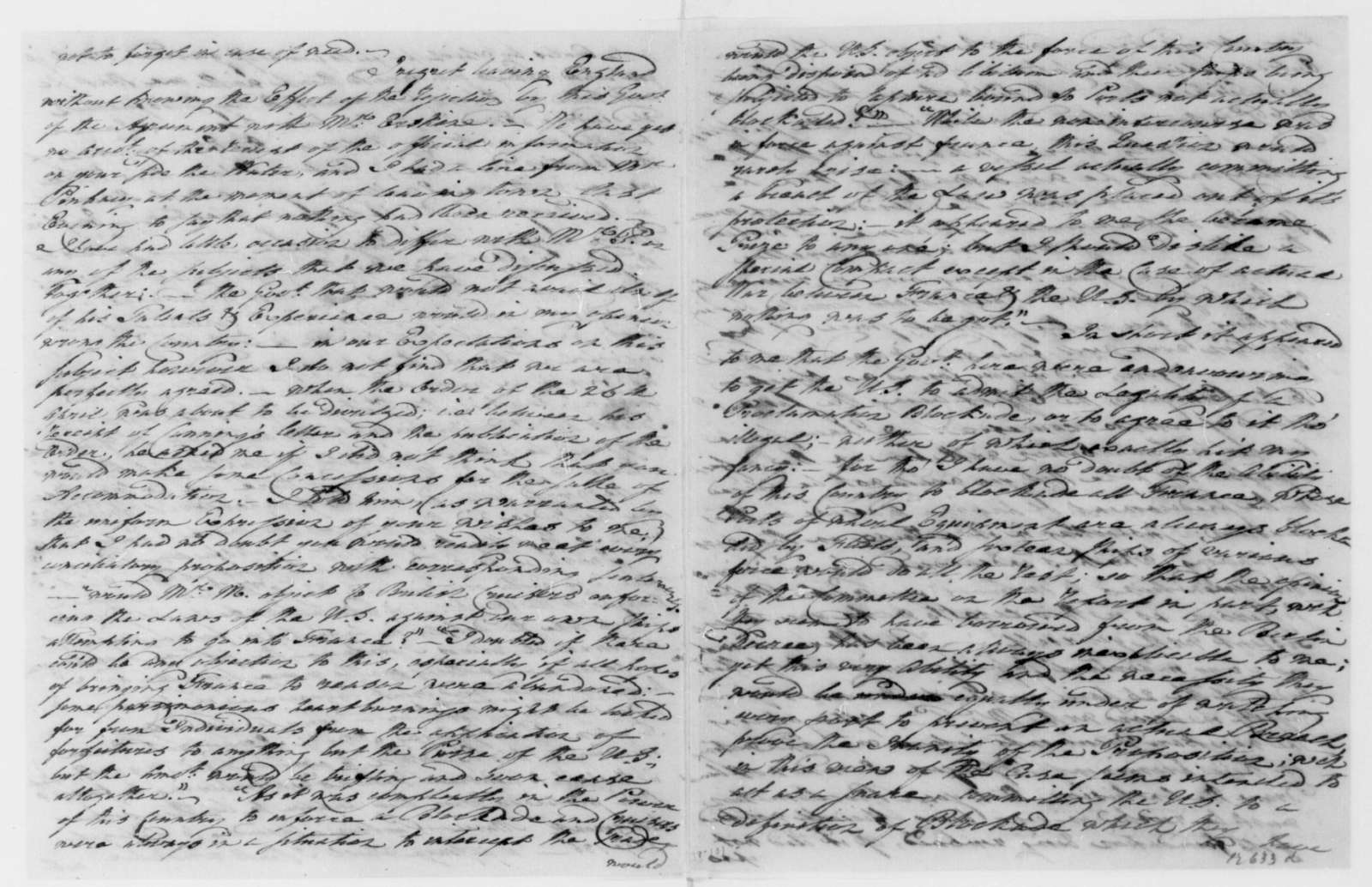George Joy to James Madison, September 9, 1809. With Copy.