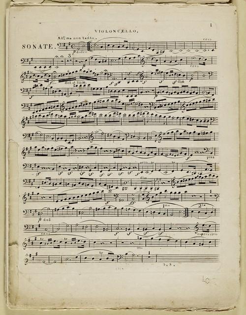 Grande sonate pour pianoforte et violoncelle Oeuv. 69