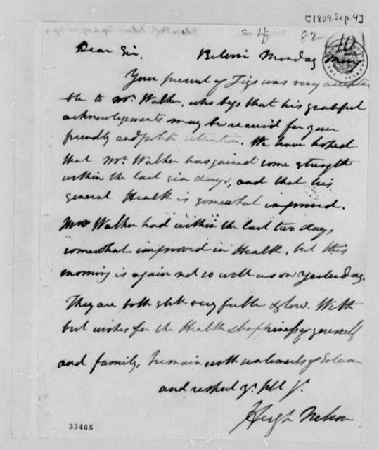 Hugh Nelson to Thomas Jefferson, September 4, 1809