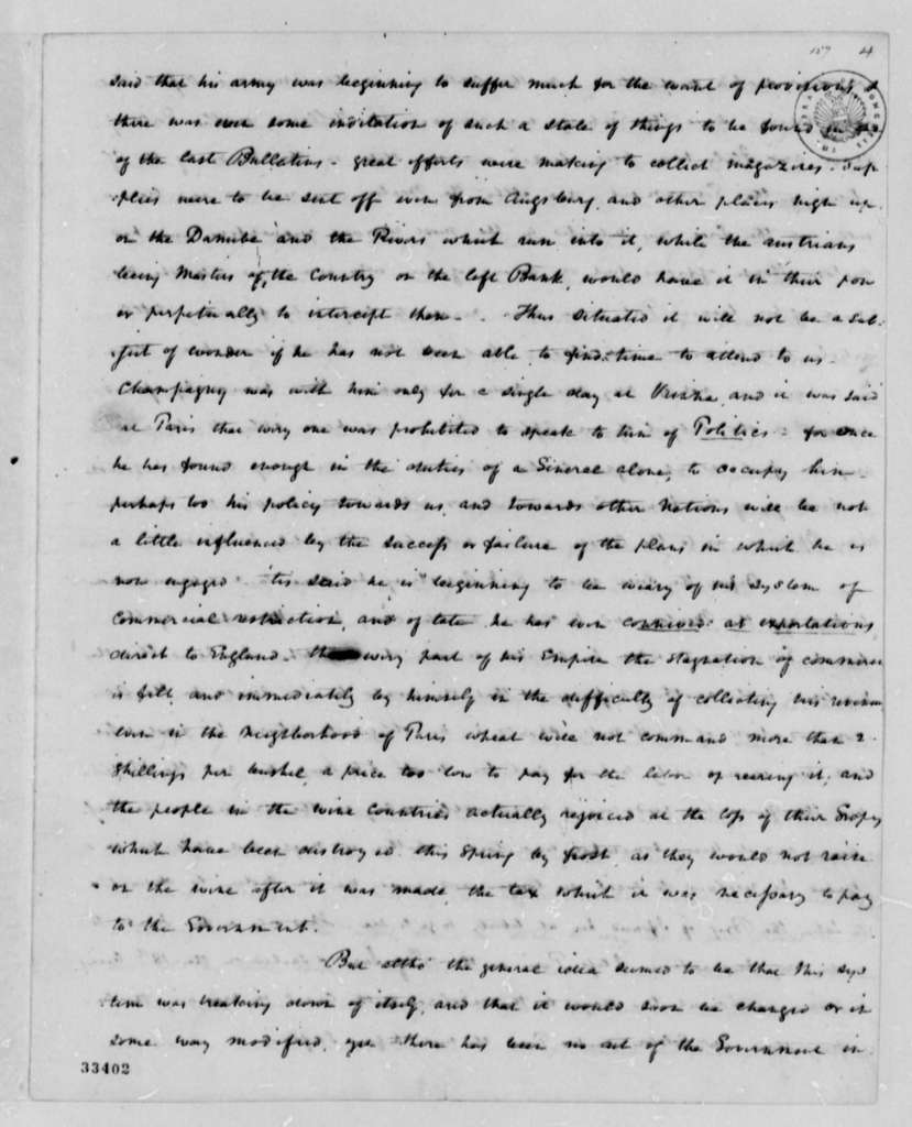 Isaac A. Coles to Thomas Jefferson, July 26, 1809