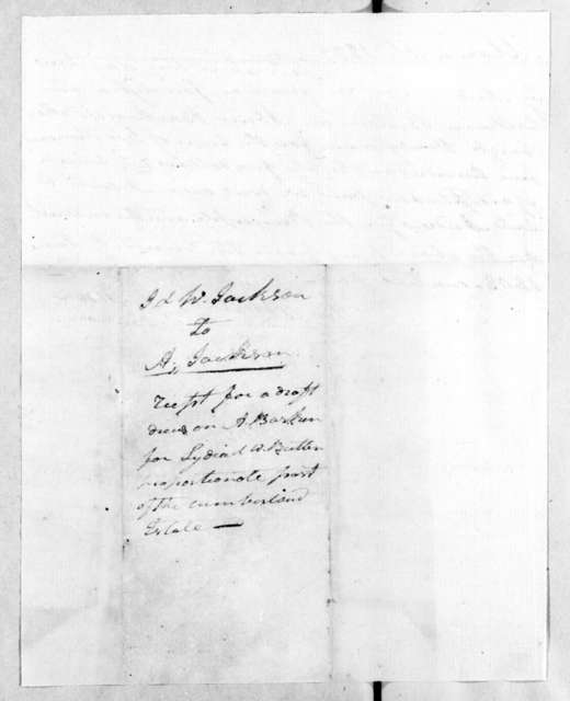 James and Washington Jackson to Andrew Jackson, March 10, 1809