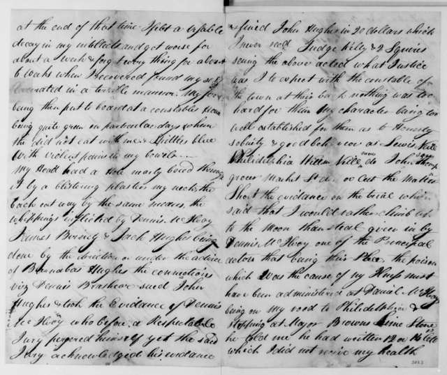 James Cleland to James Madison, November 24, 1809.