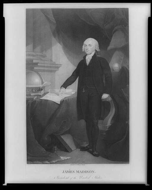 James Madison, President of the United States / T. Sully del. ; D. Edwin fecit.