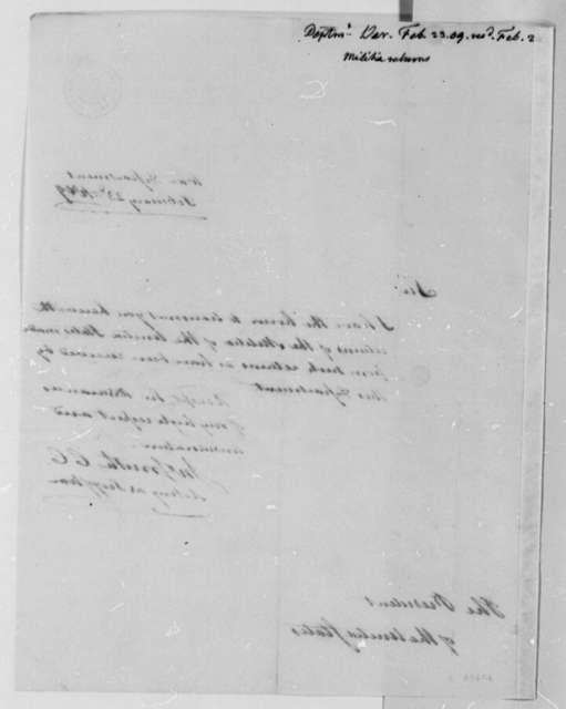 John Smith to Thomas Jefferson, February 23, 1809