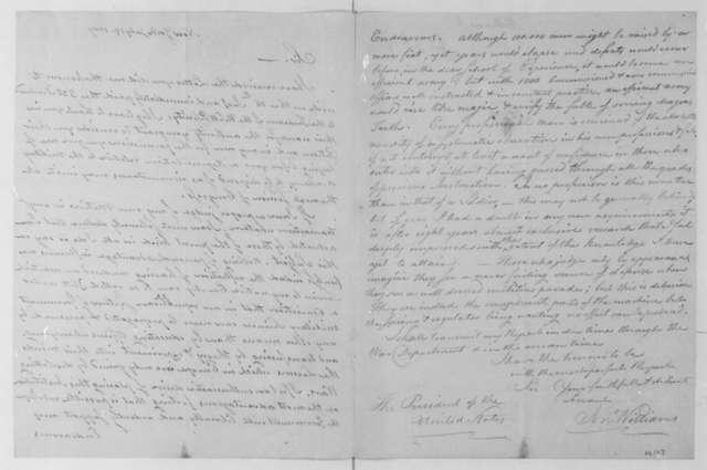 John Williams to James Madison, July 19, 1809.