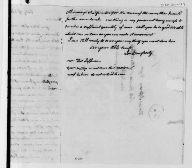 Joseph Dougherty to Thomas Jefferson, June 18, 1809