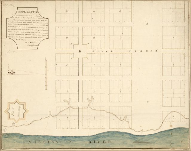 [Map of Baton Rouge, Spanish West Florida] /
