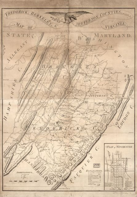 Map of Frederick, Berkeley, & Jefferson counties in the state of Virginia /