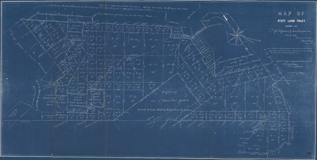 Map of state land tract, Greene Co. / done pursuant to law, Simeon DeWitt, Surveyor Gen'l.
