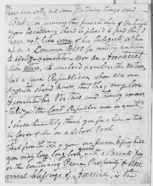 Mason L. Weems to Thomas Jefferson, February 1, 1809
