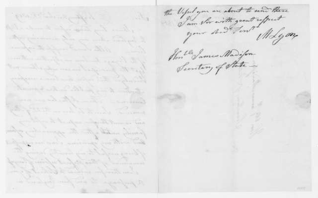 Matthew Lyon to James Madison, January 22, 1809.
