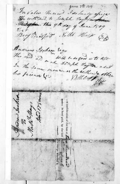 Nathaniel Hays to Andrew Jackson, June 7, 1809