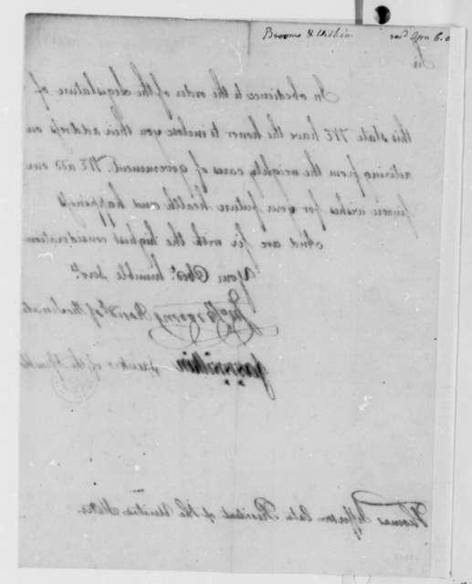 New York Legislature to Thomas Jefferson, March 1809