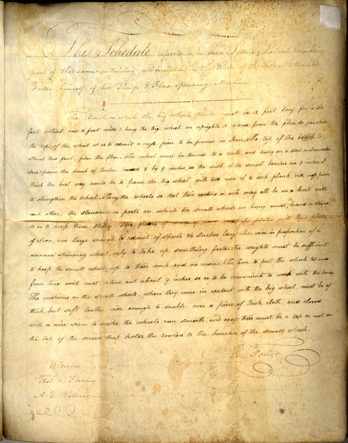 Patent right issued to Nathaniel Foster