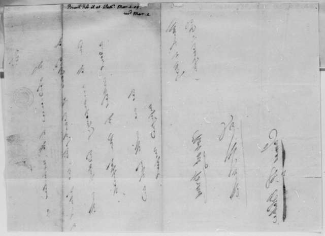 Robert Brent, Samuel H. Smith, and James Blake to Thomas Jefferson, March 4, 1809