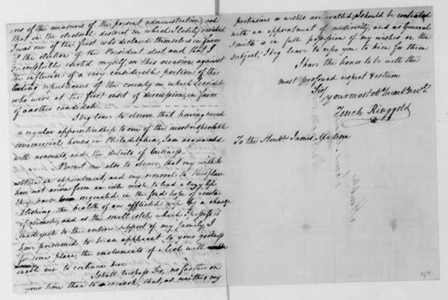 Tench Ringgold to James Madison, February 18, 1809.