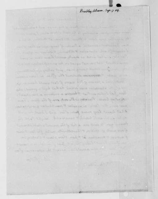 Thomas Jefferson to Abraham Bradley, Jr., September 7, 1809