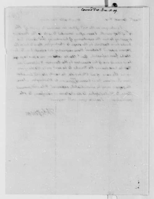 Thomas Jefferson to C. & A. Conrad & Company, December 11, 1809