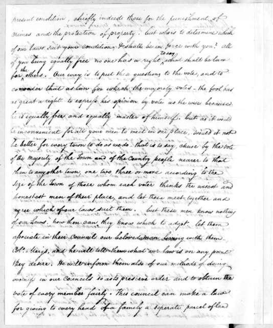 Thomas Jefferson to Cherokee Deputies, January 9, 1809