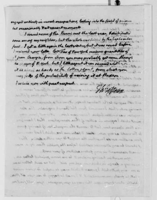 Thomas Jefferson to Horatio G. Spafford, May 14, 1809